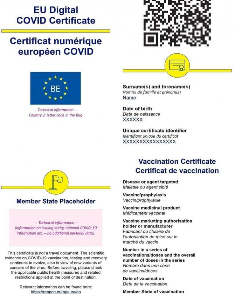 Cum va arăta certificatul verde digital al UE. Sistemul informatic, testat cu succes în România