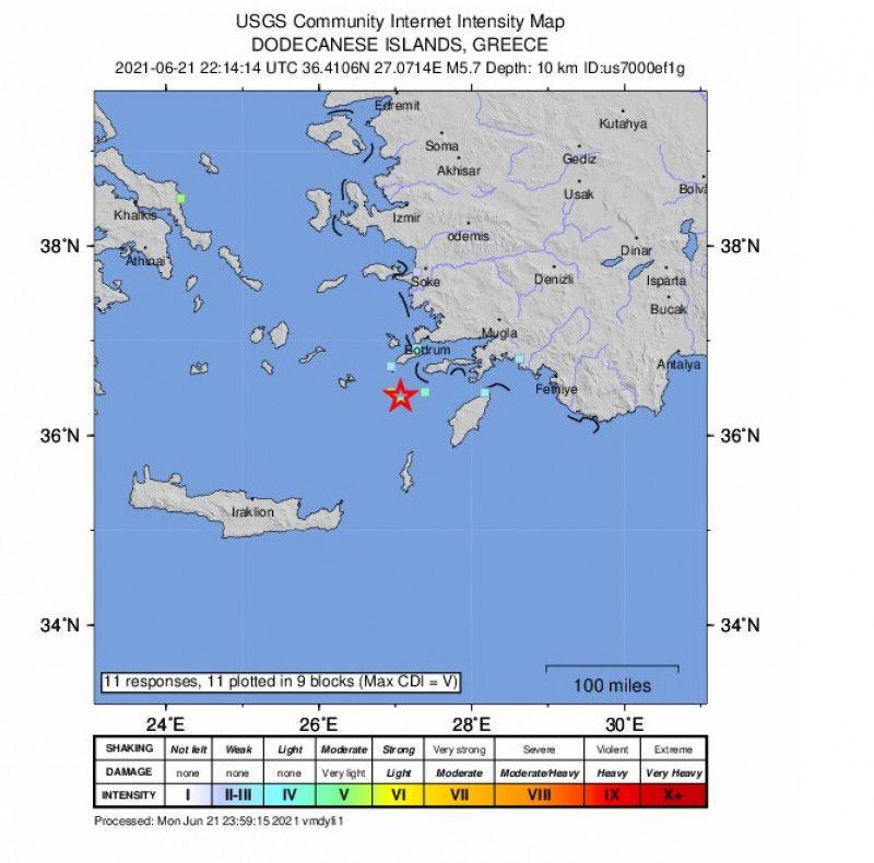Cutremur cu magnitudinea de 5,7 a avut loc în Grecia