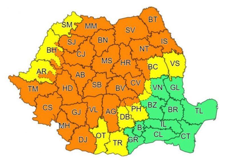 ATENȚIE! - COD PORTOCALIU de FURTUNI în Maramureș și alte județe din țară începând cu ora 14.00