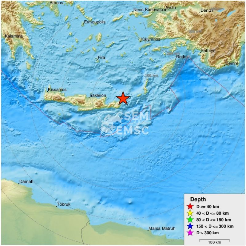 Un seism cu magnitudinea 6,3 s-a produs în zona insulei Creta