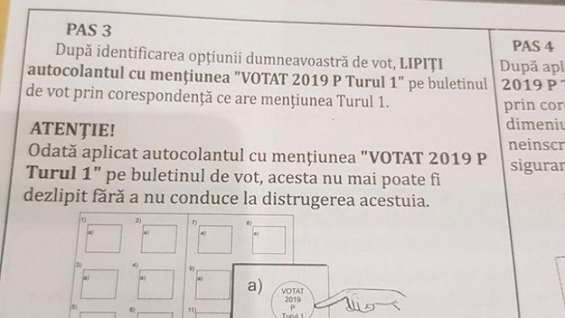 """VIDEO: Situație GRAVĂ - Un român din Marea Britanie arată că autocolantul """"votat"""" se poate dezlipi şi muta"""