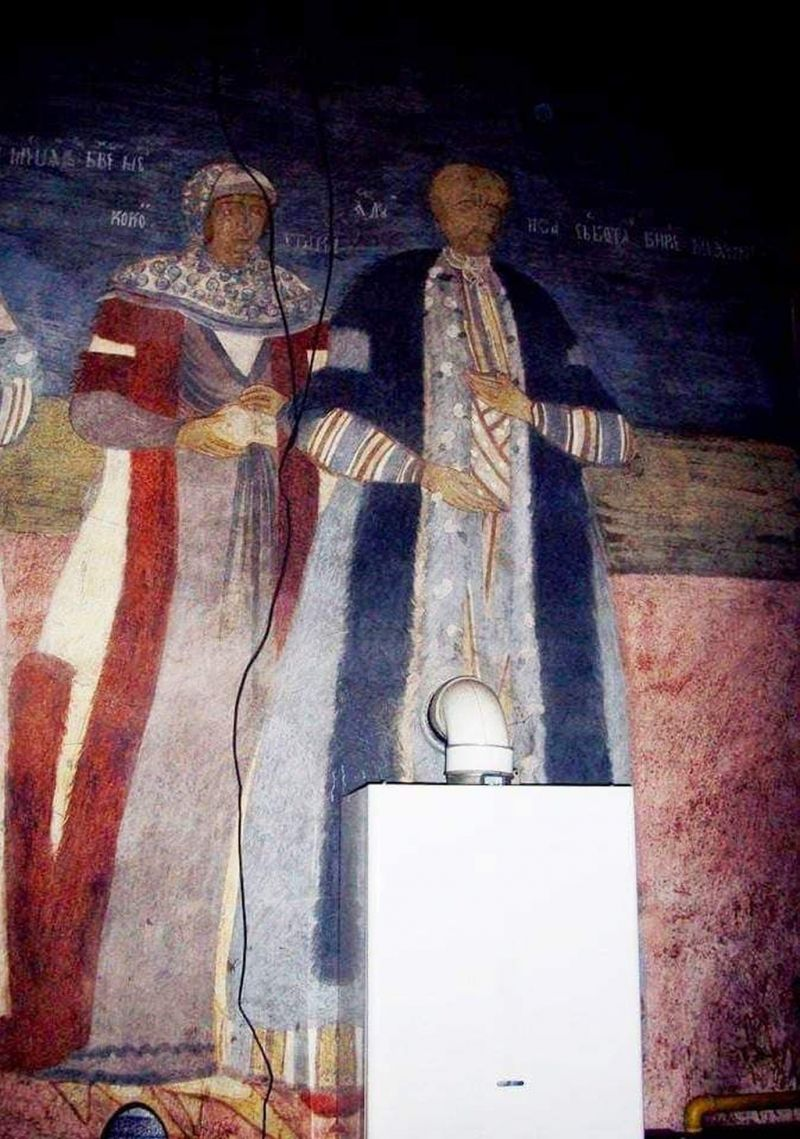 DOREL în acțiune - Un instalator a distrus o pictură veche de 200 de ani din biserica Sfântul Nicolae din Târgu Jiu