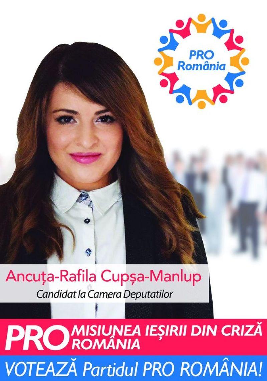 Alături de o echipa dedicată și capabilă, vom reuși - Ancuța-Rafila Cupșa-Manlup - Candidat la Camera Deputaților