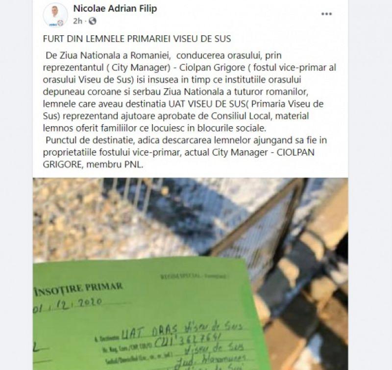 VIDEO: VIȘEU DE SUS: ACUZAȚII GRAVE - De Ziua Națională a României s-au furat din lemnele Primăriei. Au fost găsite pe terenul city-managerului orașului