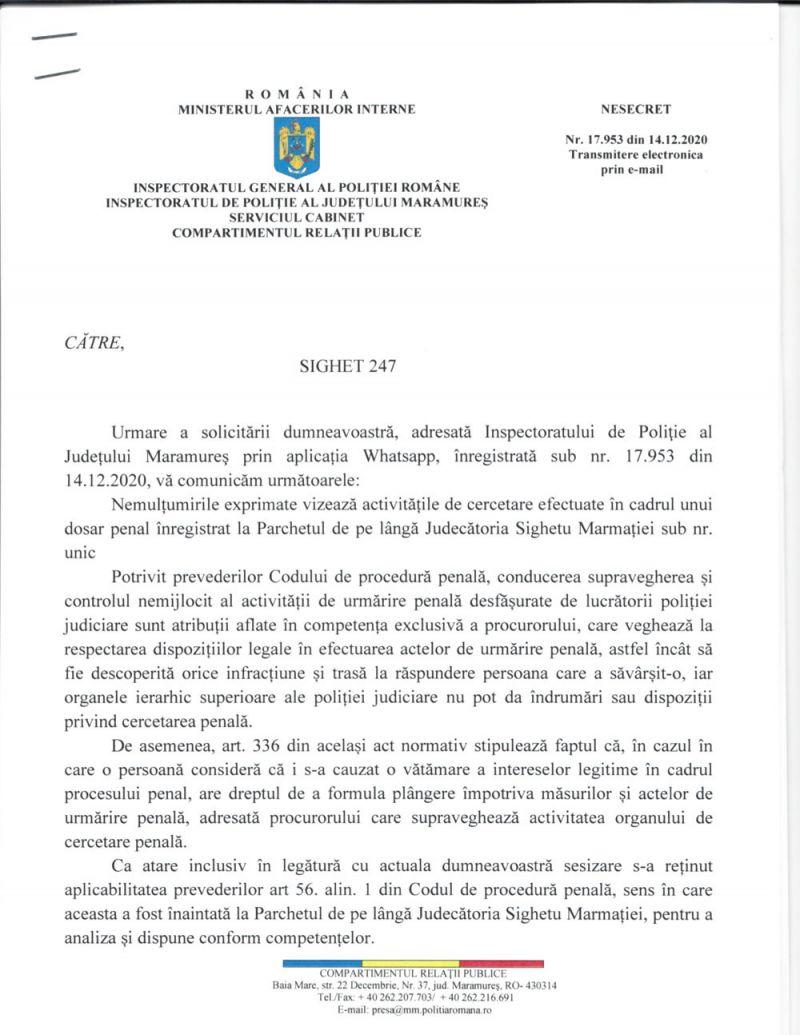 ACTUALIZARE - Familia unui bărbat accidentat mortal pe trecerea pentru pietoni revoltată că Biroul Poliției rutiere Sighet tergiversează ancheta