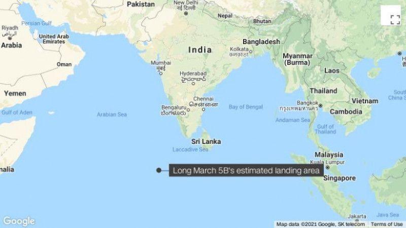 Resturi ale rachetei scăpate de sub control s-au prăbușit în apropierea insulelor Maldive