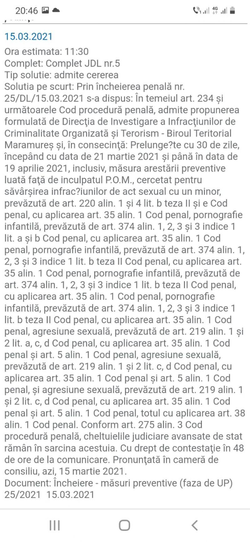 Caz șocant în Maramureș: Pornografie infantilă - Doi soți din Cicârlău arestați după ce și-au abuzat sexual fetița și alte trei fete. Procurorii au găsit imagini șocante